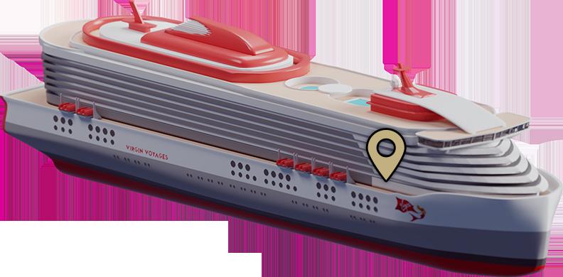 Ship zone location indicator