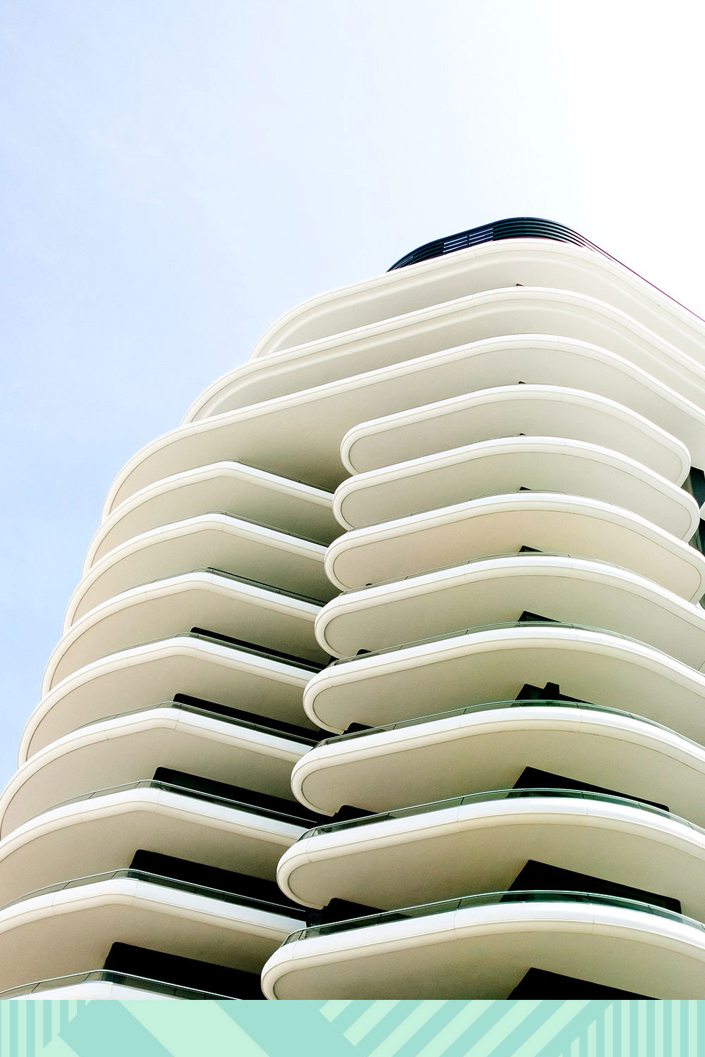 A shot of a building in Miami.