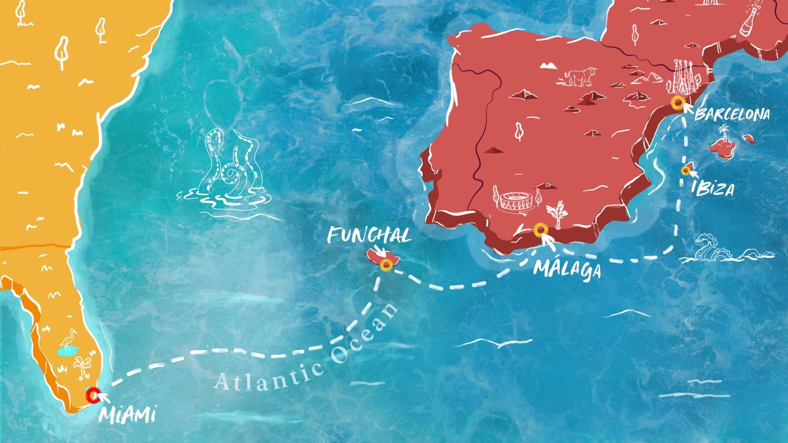 Valiant Lady Transatlantic Mediterranean to Miami Voyage