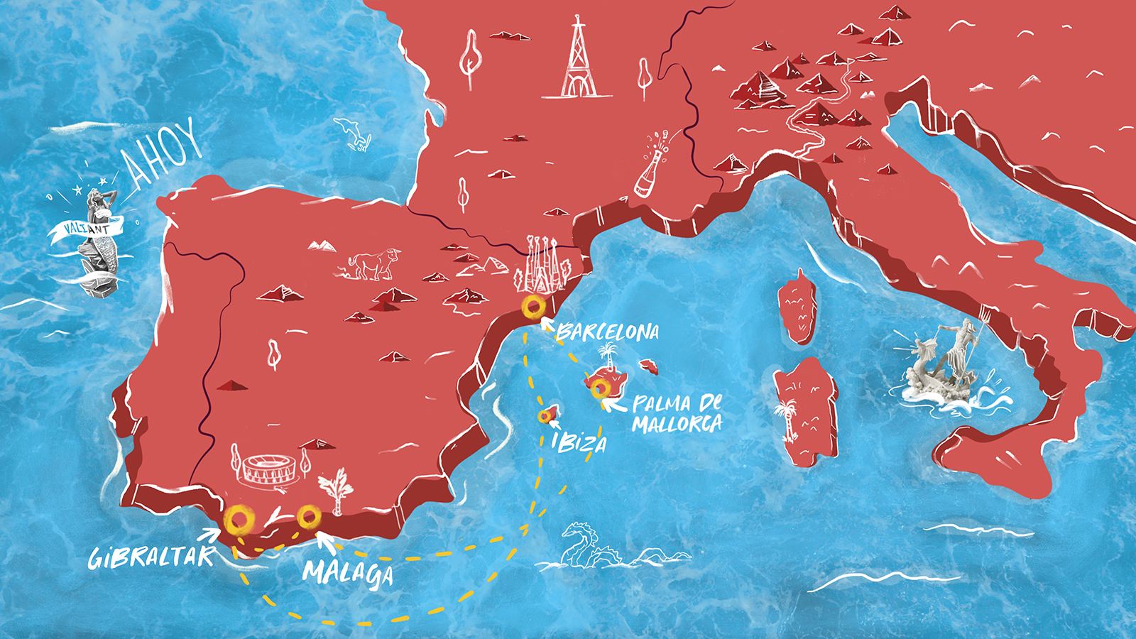 Map Spanish Obsession Mediterranean Cruise