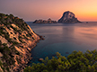 Landscape of Es Vedra in Ibiza, Spain.