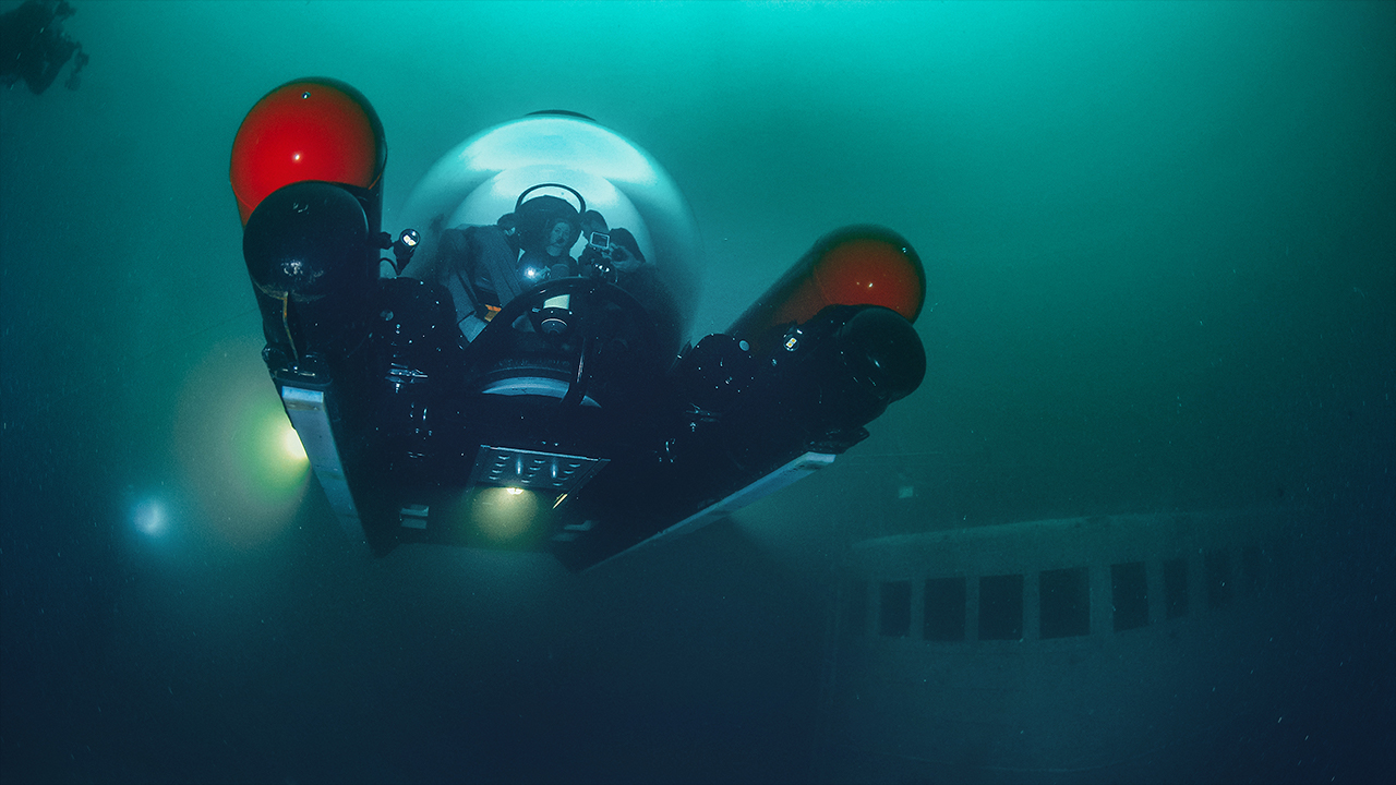 Underwater photograph of an Aquatica submersible