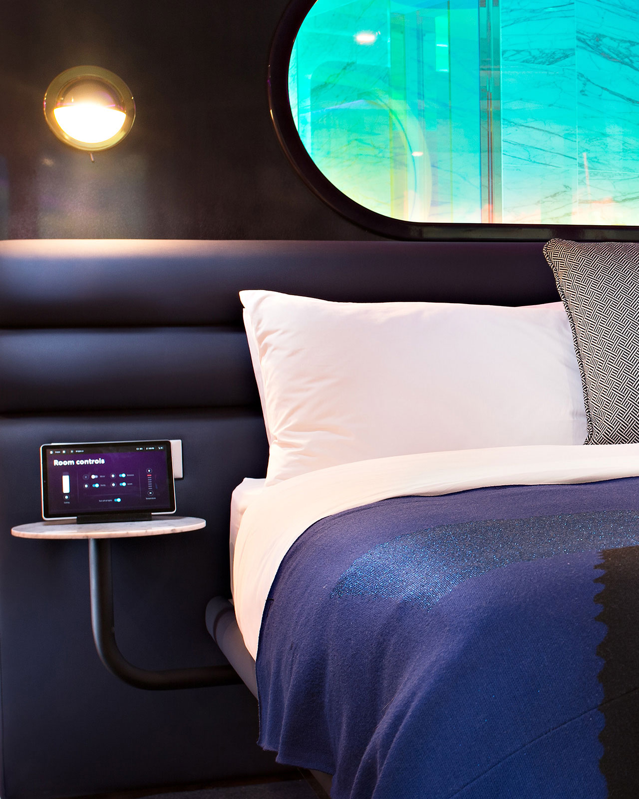 Virgin Voyages cabin smart tech.
