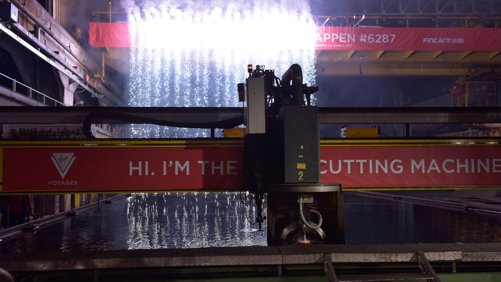 Ship steel cutting